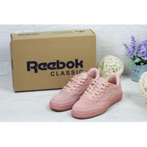 Женские замшевые кроссовки Reebok Naked,розовые