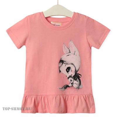 Футболка для девочки Bunny girl Little Maven