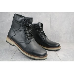 Ботинки мужские Yuves Obr 2 черные (натуральная кожа, зима)