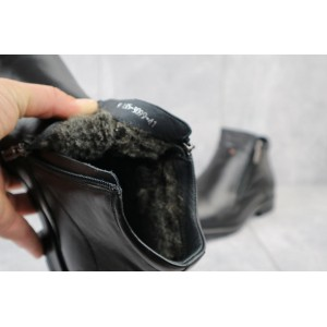 Ботинки мужские Slat 18-86 черные (натуральная кожа, зима)