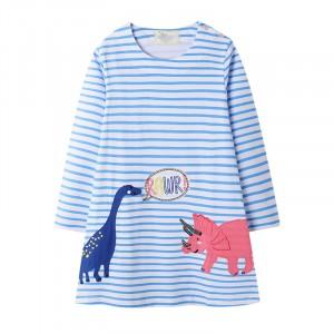Платье для девочки Pink dinosaur Jumping Meters