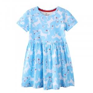 Плаття для дівчинки Unicorns among flowers Jumping Meters