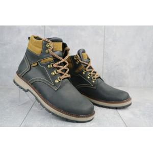Ботинки мужские Yuves Obr 11 черные (натуральная кожа, зима)