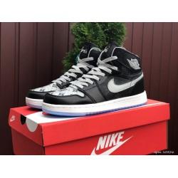 Кроссовки осенние Nike Air Jordan 1 Louis Vuitton ,черные с серым