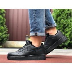 Демисезонные мужские кроссовки Nike Air Force,черные