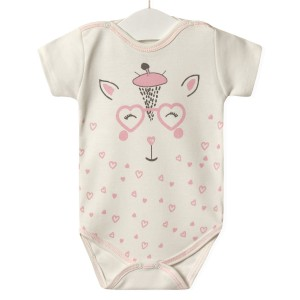 Боди для девочки Розовый жирафик Twetoon