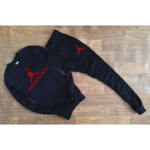"""Черный костюм Jordan (красное лого) """""""" В стиле Jordan """""""" 0558"""