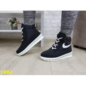 Дутики ботинки найки зимние черные очень теплые