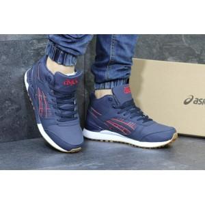 Высокие кроссовки Asics GEL LYTE III кожаные,темно синие