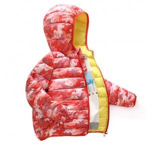 Куртка демисезонная детская Камуфляж, красный Berni