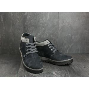 Ботинки Norman Z158 (зима, мужские, нубук, синий)