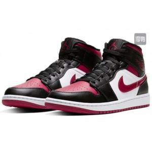 Модные подростковые кроссовки Nike Air Jordan,черные с бордовым