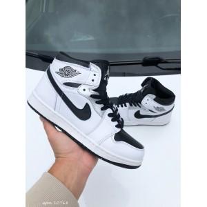 Модные подростковые кроссовки Nike Air Jordan, белые с черным