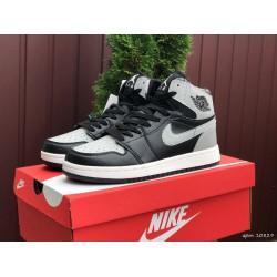 Модные подростковые кроссовки Nike Air Jordan, черные с серым