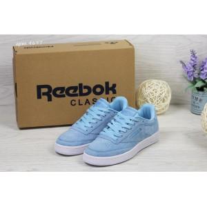 Женские замшевые кроссовки Reebok Naked,голубые 39,40 37