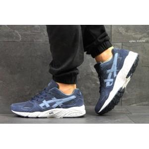 Мужские замшевые кроссовки Asics,темно голубые