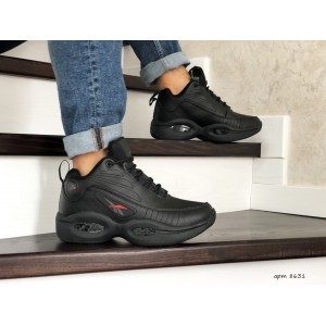 Высокие зимние кроссовки Reebok I3,черные,на меху