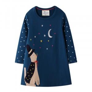 Платье для девочки Кот-волшебник Jumping Meters