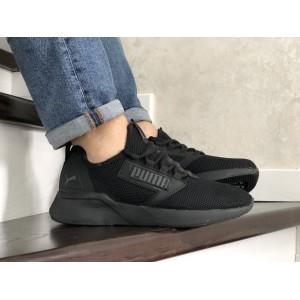 Весенние мужские кроссовки Puma,текстиль, черные