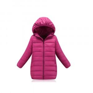 Куртка удлиненная весенняя для девочки, розовый Berni