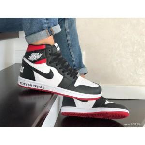 Кроссовки Nike Air Jordan,белые с черным/красным.