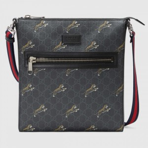 Gucci Bestiary Messenger with Tigers GG Supreme Tigers