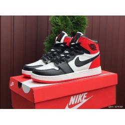 Модные подростковые кроссовки Nike Air Jordan, черно белые с красным