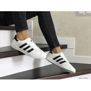 Женские,подростковые кроссовки Adidas Gazelle,белые с черным