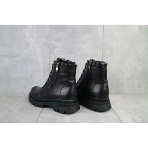 Ботинки женские Kristi Vita черные (натуральная кожа, зима)