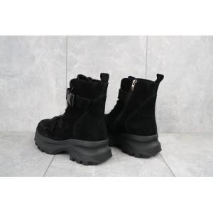 Ботинки женские Mkrafvt C249 черные (замша, зима)