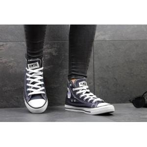 Женские Кеды Converse высокие темно-темно синие 35,40р