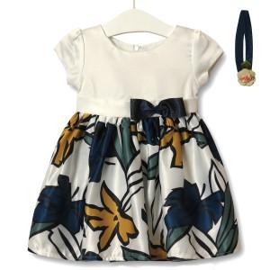 Платье для девочки Листочек, синий Zoe Flower