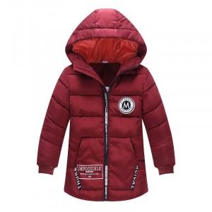 Куртка удлиненная демисезонная детская Лондон, бордовый Berni