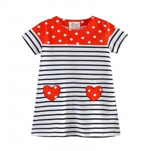 Платье для девочки Красное сердце Jumping Meters