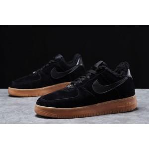 Зимние мужские кроссовки 31731, Nike Air AF1 (мех), черные, [ 44 ] р. 44-28,4см.