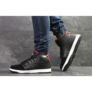 Высокие зимние кроссовки Nike Jordan,черные 46р