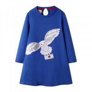 Платье для девочки Белая сова Jumping Meters