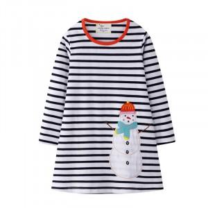 Платье для девочки Праздничный снеговик Jumping Meters