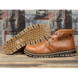 Зимние ботинки на меху Clarka Ultra Moda, рыжие (31121) размеры в наличии ► [ 40 41 43 44 ]