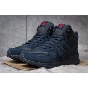 Зимние кроссовки на меху Armani Jeans, темно-синие (30483) размеры в наличии ► [ 41 (последняя пара) ]