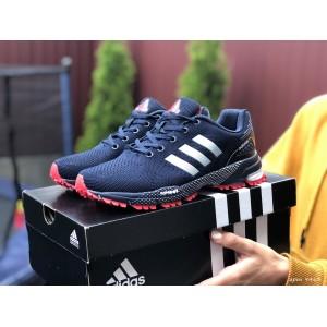 Подростковые (женские) летние кроссовки Adidas Marathon,темно синие