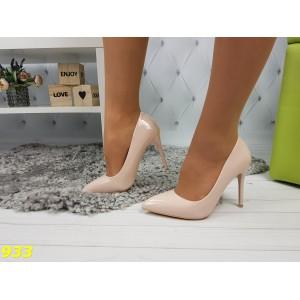 Туфли лодочки пудровые