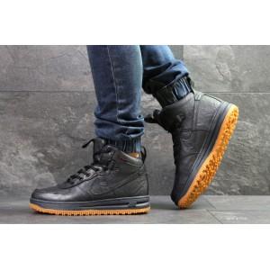 Кроссовки зимние Nike Lunar Force 1,темно синие на меху 41р