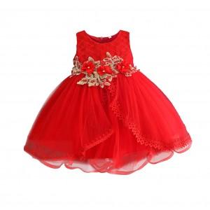 Платье для девочки Красная жемчужина Zoe Flower