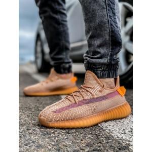 Кроссовки мужские 18412, Adidas Yeeze Boost 350, коричневые, [ 41 42 43 44 45 46 ] р. 41-26,0см. 45