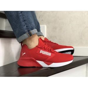 Весенние мужские кроссовки Puma,текстиль, красные