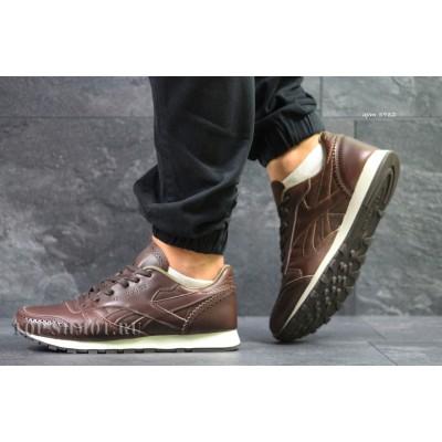 Мужские кроссовки Reebok кожаные,коричневые