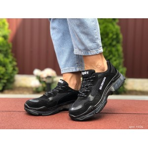 Модные женские кроссовки Balenciaga,Баленсиага,черные
