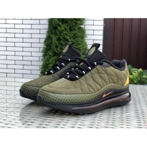 Мужские термо кроссовки Nike air max 720, темно зеленые