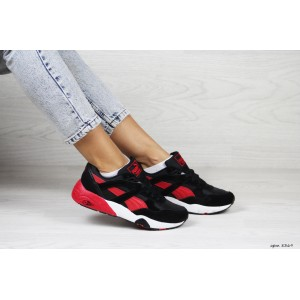 Женские кроссовки Puma Trinomic,замшевые,черные с красным